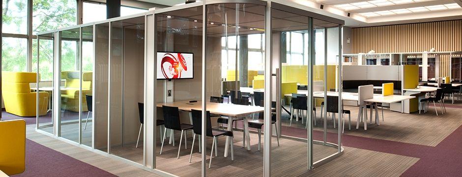 internal office pods. volkswagen group specify unifi vista pods internal office o
