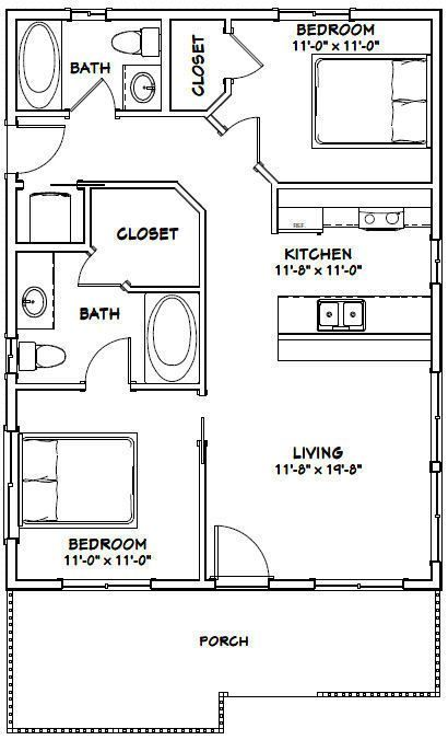 house bedroom bath pdf floor plan sq ft model  picclick also rh pinterest