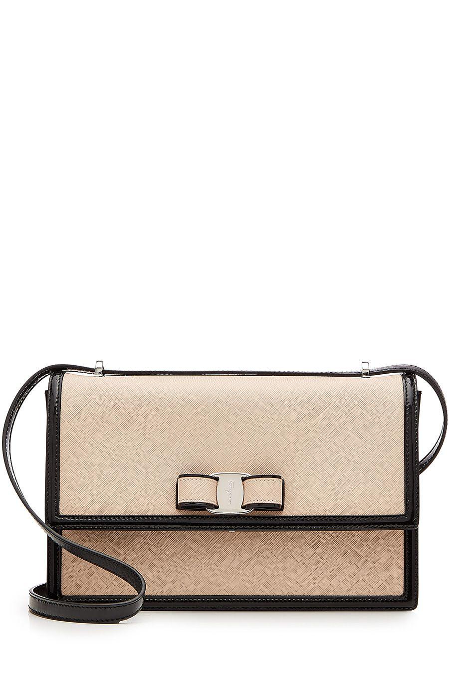 e0251f8f9d51 SALVATORE FERRAGAMO Leather Medium Ginny Shoulder Bag.  salvatoreferragamo   bags  shoulder bags  hand bags  patent