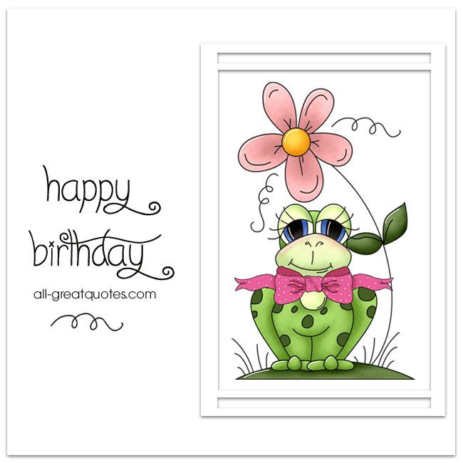 Share cute fun free birthday cards for kids happy birthday happy birthday free kids birthday card frog all greatquotes m4hsunfo