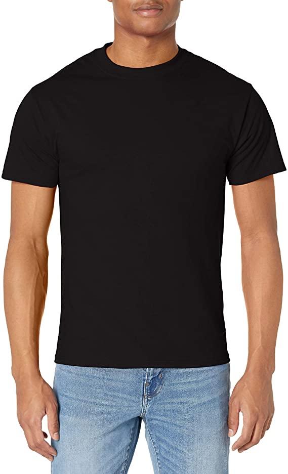Hanes Men's Short-Sleeve Beefy T-Shirt, Black, Small | Amazon.com
