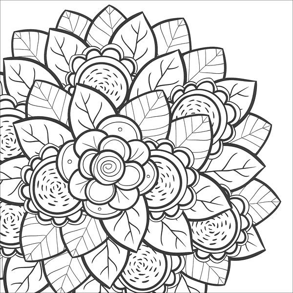 Coloring Pages for Teens | Teen, Flower and Adult coloring