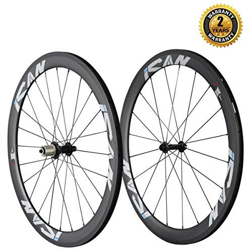 Ican 50mm 700c Carbon Wheelset Road Bike Clincher Rim Shimano Or Sram 1011 Speed 1510g Classic Wheelset Click On The I Road Bike Wheels Road Bike Bike Seat