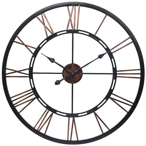 Metal Fusion Wall Clock Infinity Instruments Wall Mounted Clock Clocks Home Decor