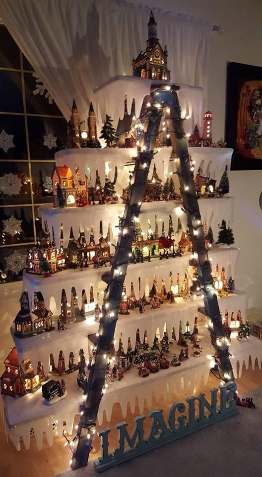 Art In Granisle Christmas Village Ladder Complete