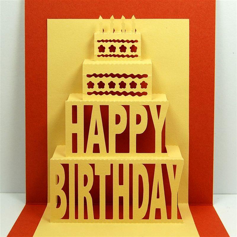 Capadia Designs Happy Birthday Pop Up Birthday Card Pop Up Happy Birthday Cards Cool Birthday Cards