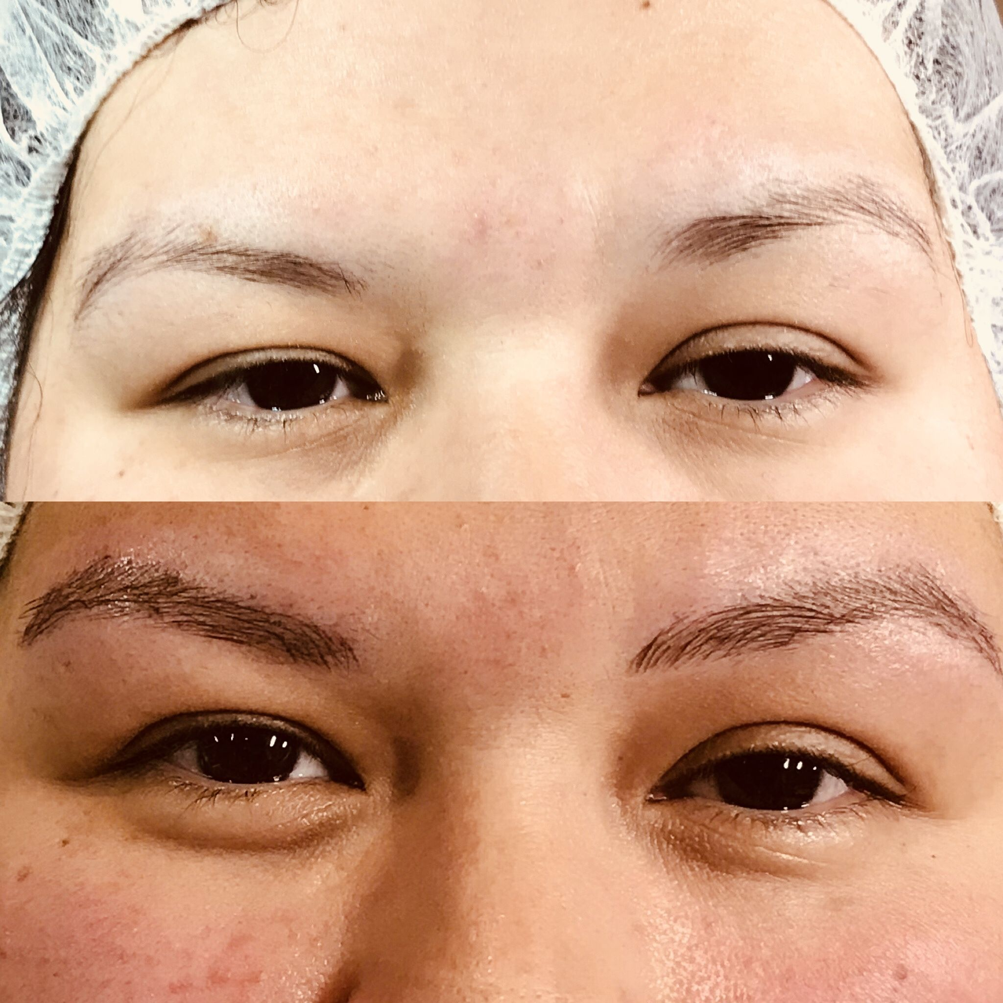 Before and after Microblading, permanent makeup, permanent ...