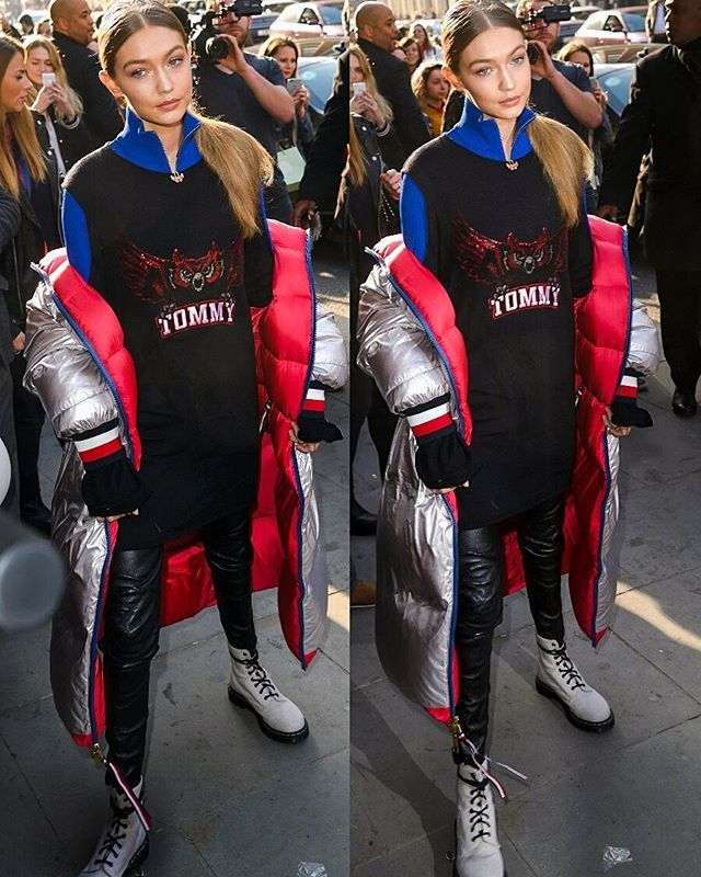 a834c9ec February 18: #Gigihadid arriving at the Tommy Hilfiger Flagship store in  London, UK💟