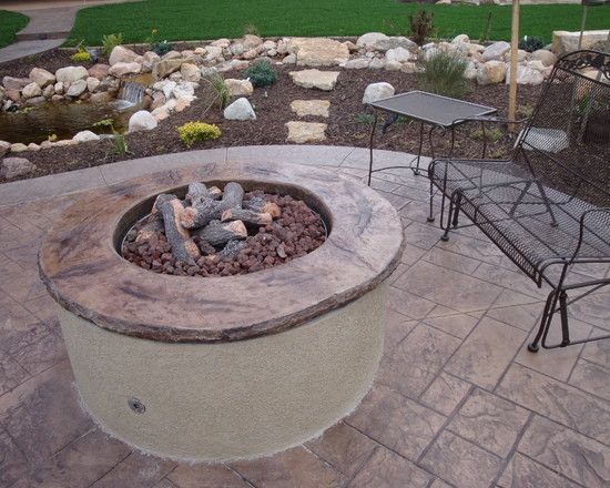 fire pit (With images) | Traditional landscape, Landscape ...