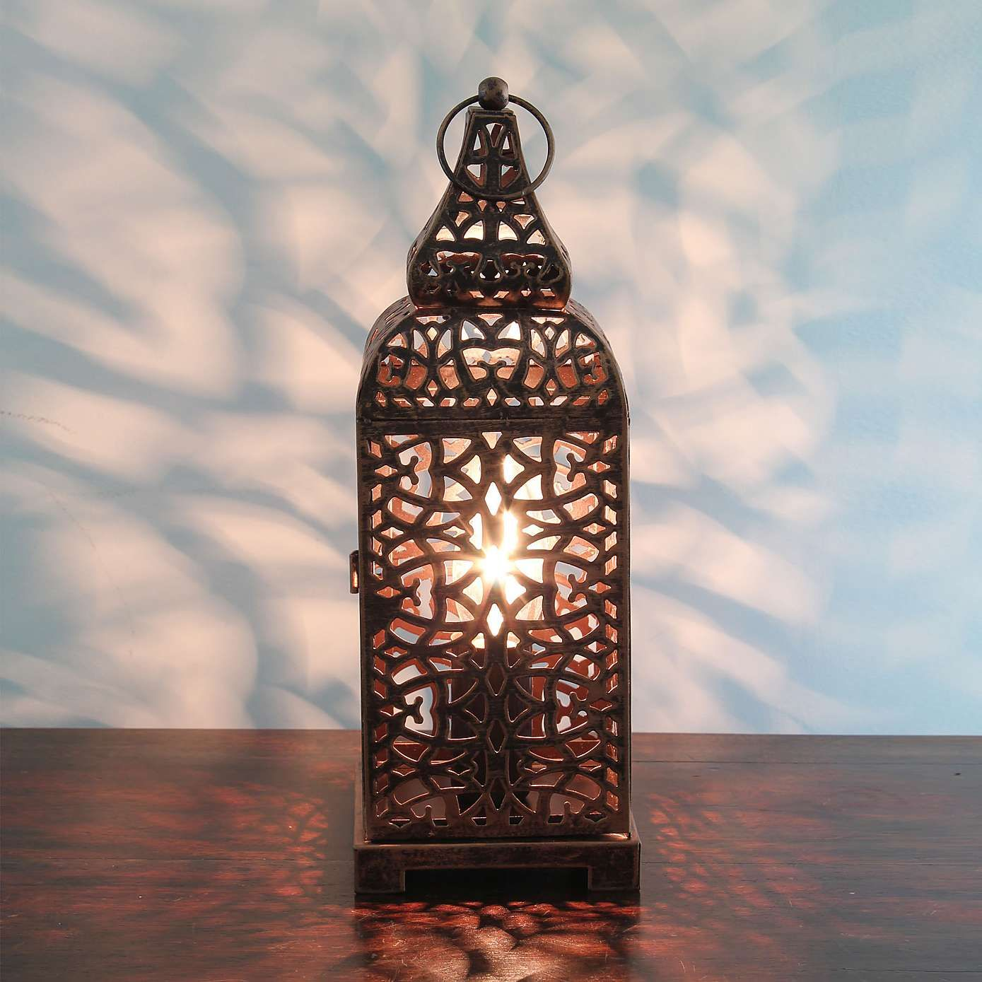 Moroccan Copper Lantern Table Lamp In 2019 For The Home