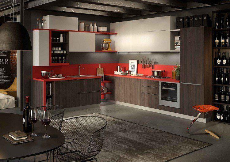 couleur pour cuisine 105 id es de peinture murale et fa ade cuisines contemporaines et. Black Bedroom Furniture Sets. Home Design Ideas