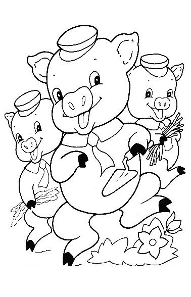 51 Coloring Pages Printable Three Little Pigs  Images