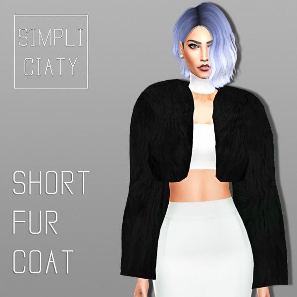 Simpliciaty: Short Fur Jacket • Sims 4 Downloads