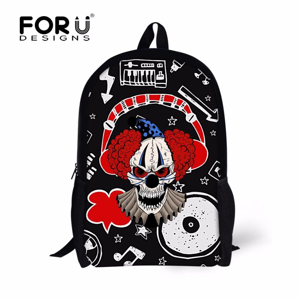 FORUDESIGNS Cool Skull Kids School Bags,Anime Printing Teenager Girls Boys  School Book Bag, 9c8414ea6c