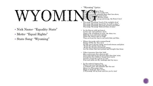 Wyoming state song - Google Search | Wyoming | Pinterest | Wyoming ...
