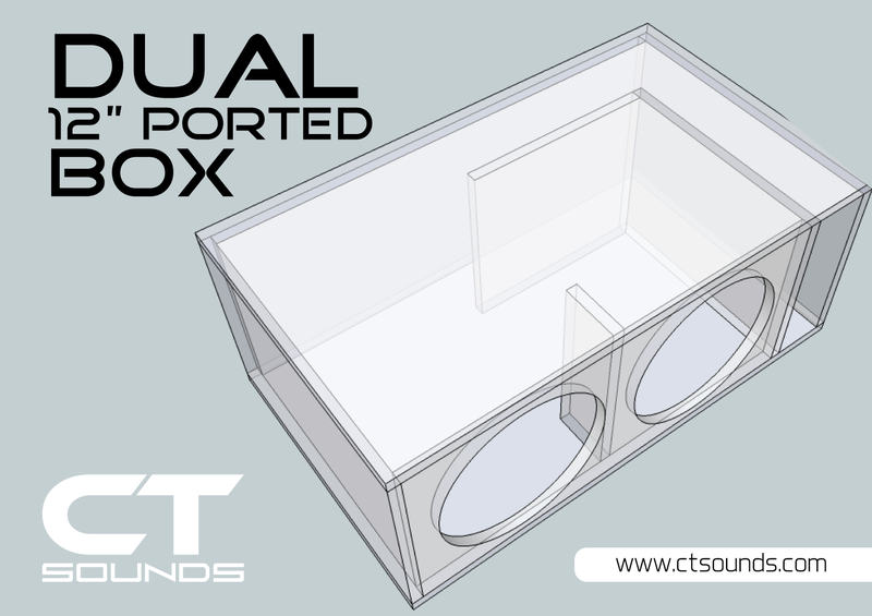 Dual 12 Inch Ported Subwoofer Box Design Subwoofer Box Design Ported Box Speaker Box Design
