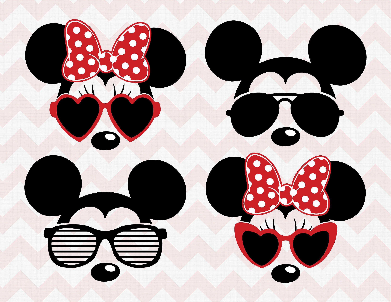 Disney SVG, Disney Clip Arts, Minnie SVG Sunglasses