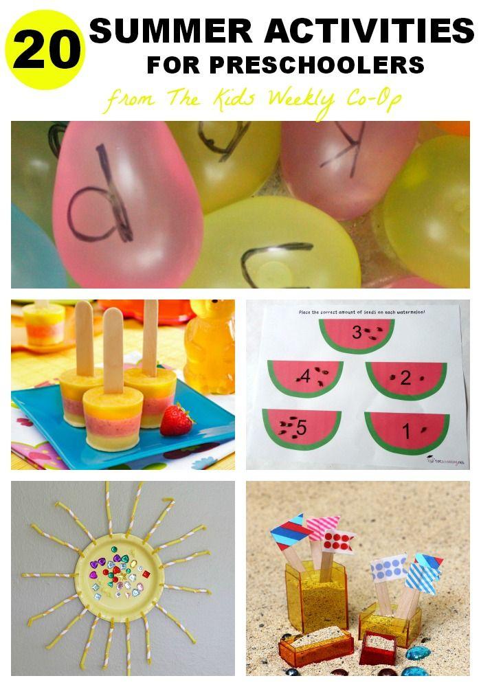 20 Summer Activities For Preschoolers Summer Preschool