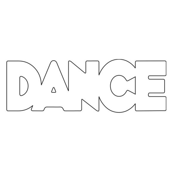 The Word Dance Coloring Sheets | Dance - Chipboard Word ...