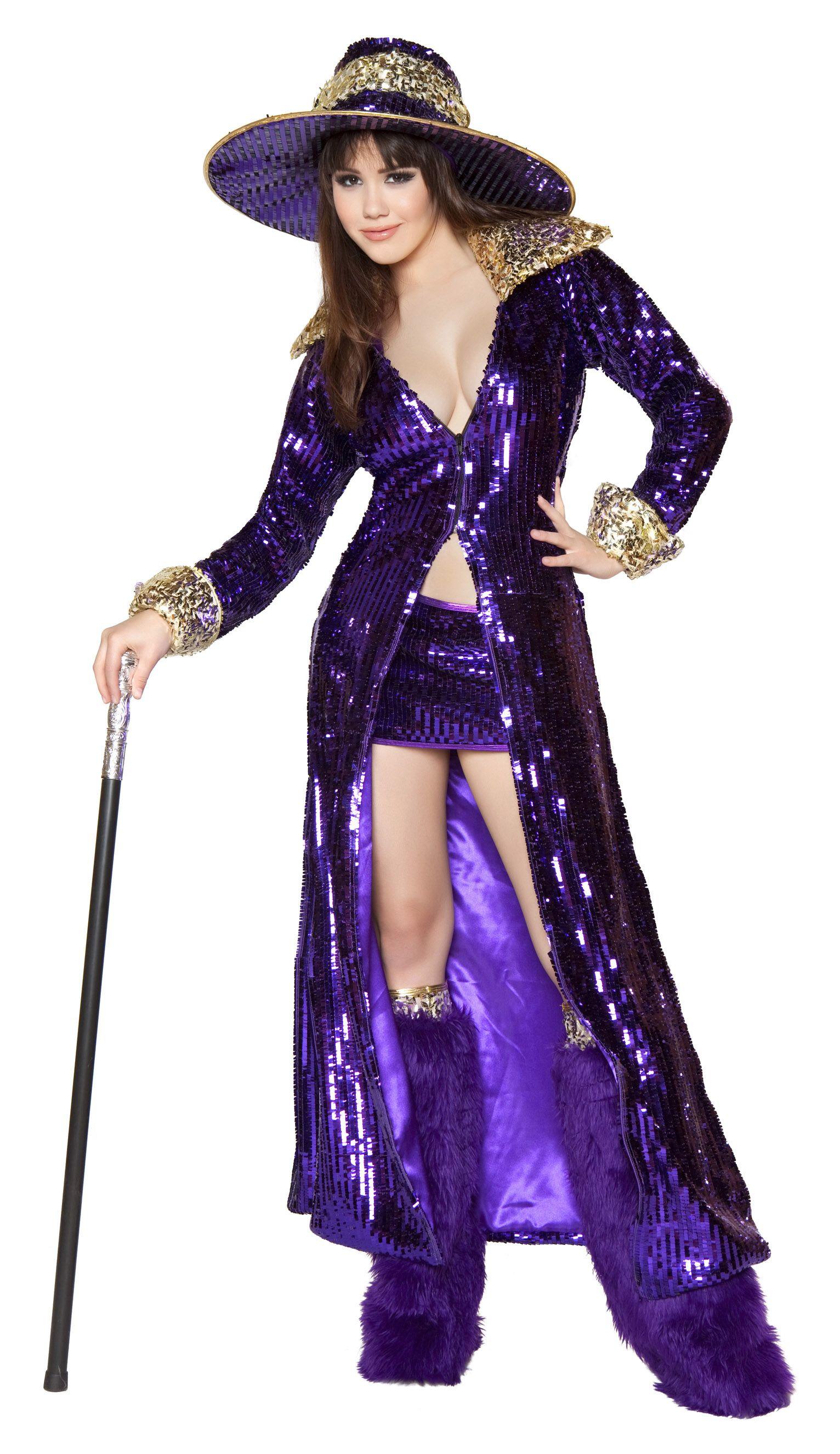 Pimp Costume Adult Halloween Fancy Dress