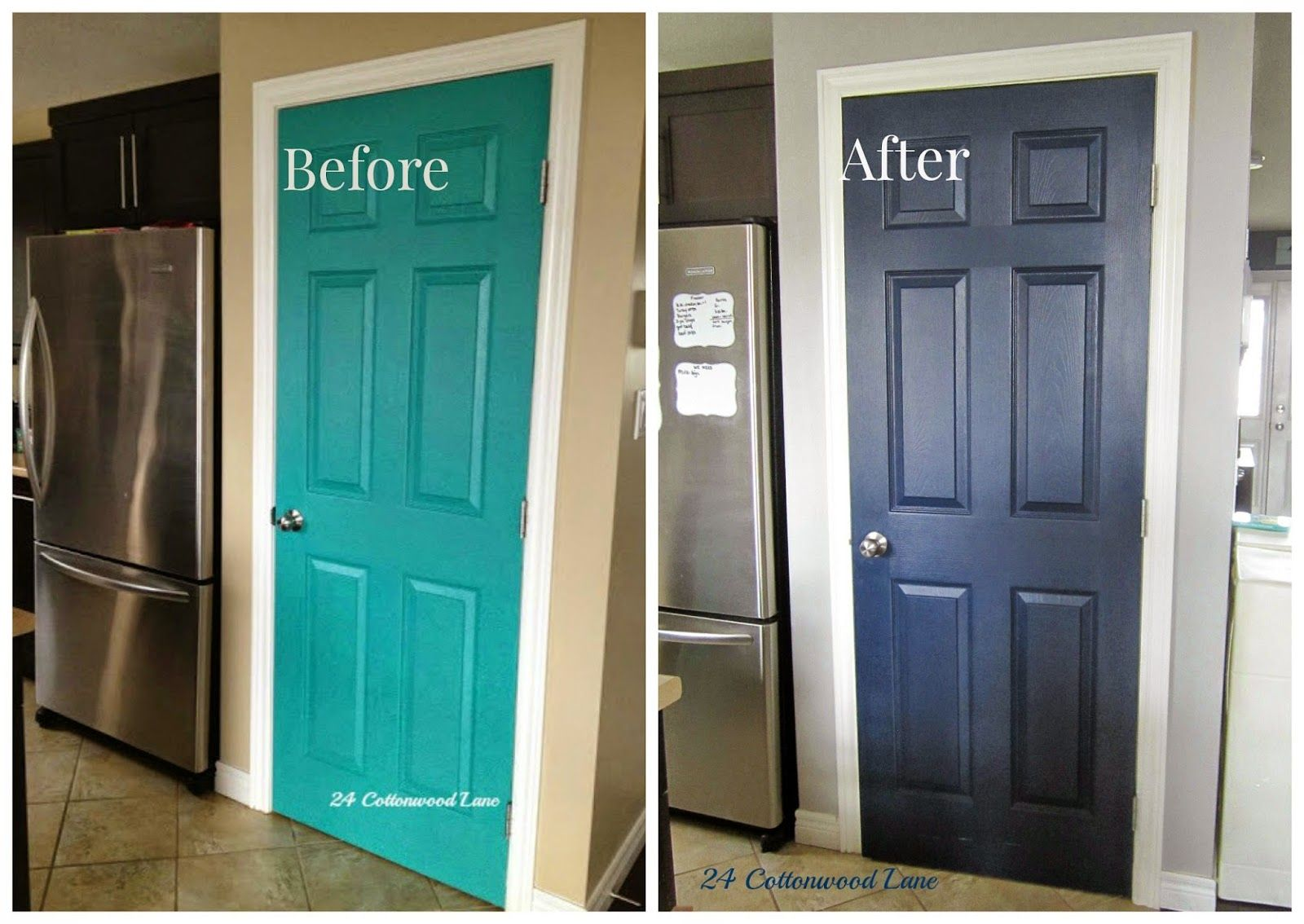 Paint the pantry door! An idea to prevent obvious sticky finger ...