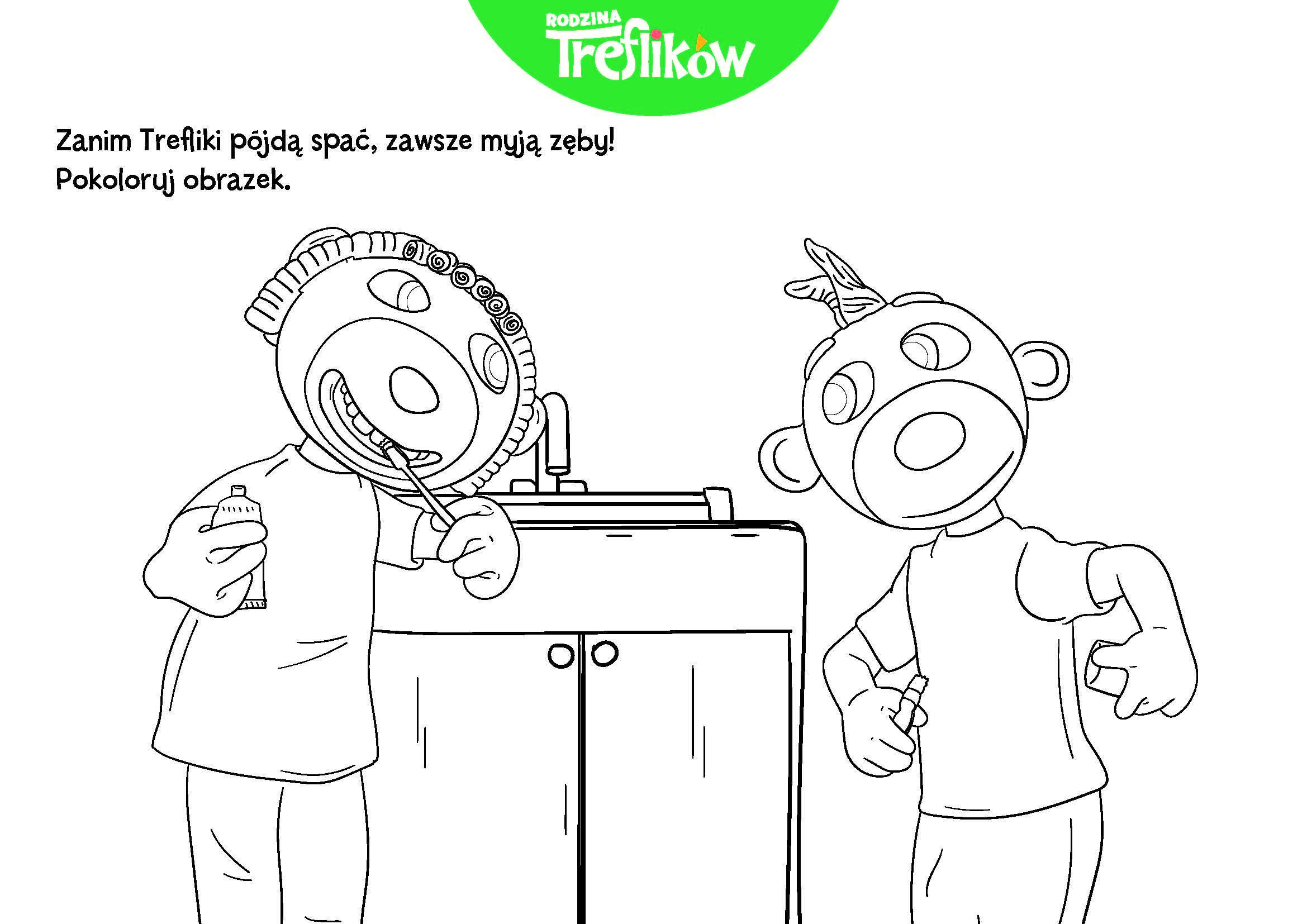 Kolorowanka Rodzina Treflikow In 2020 Coloring Books Comics Toys