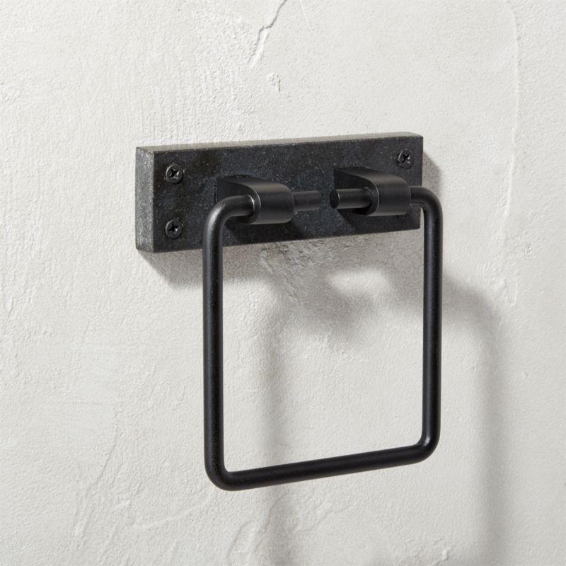 Black Marble Towel Ring Modern Bathroom Accessories Toilet Paper Holder Bathroom Accessories