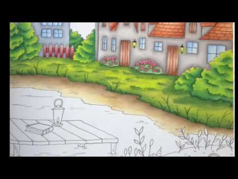 Romantic Country By Eriy Color Tutorial Part 3 Youtube Romantic Country Coloring Books Coloring Tutorial