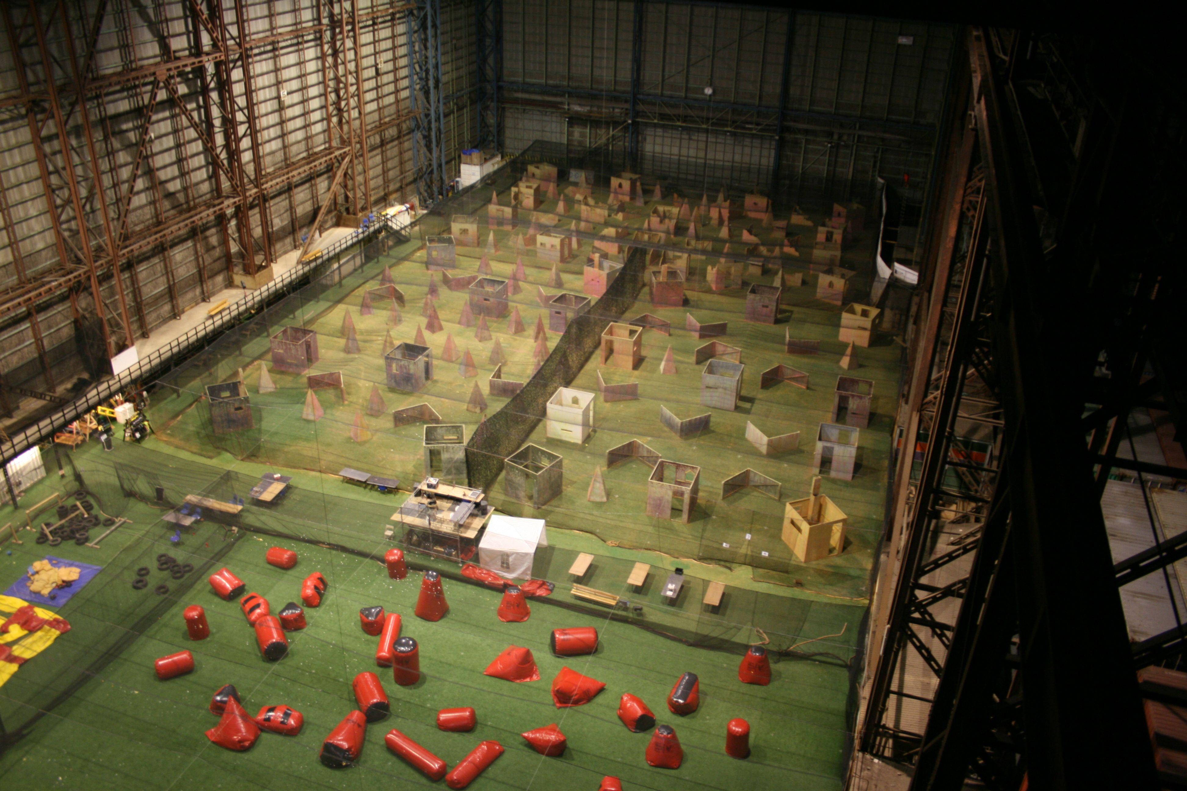 Huge indoor paintball arena in copenhagen www