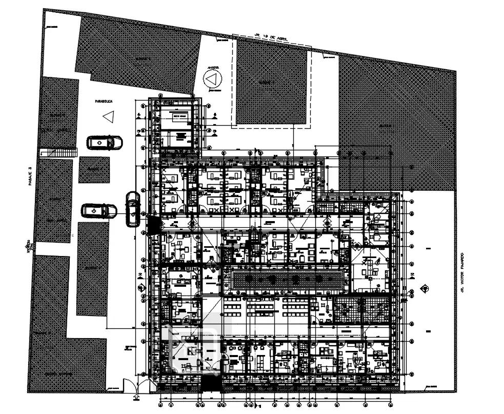 Hospital Floor Plan AutoCAD Drawing Download DWG File