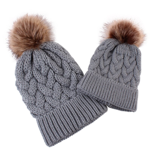 Lurryly❤Family Matching Hats Winter Warm Hat Mom/&Newborn Baby Cap Sets for The Family