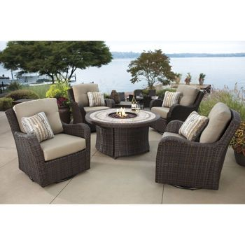 Costco Fairview 5 Piece Fire Chat Set Outdoor Kitchen