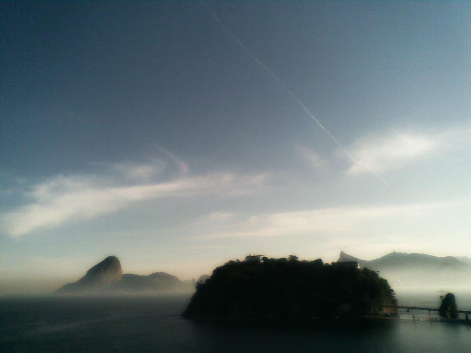 O Rio de Janeiro visto do Museu de Arte Contemporânea de Niterói.