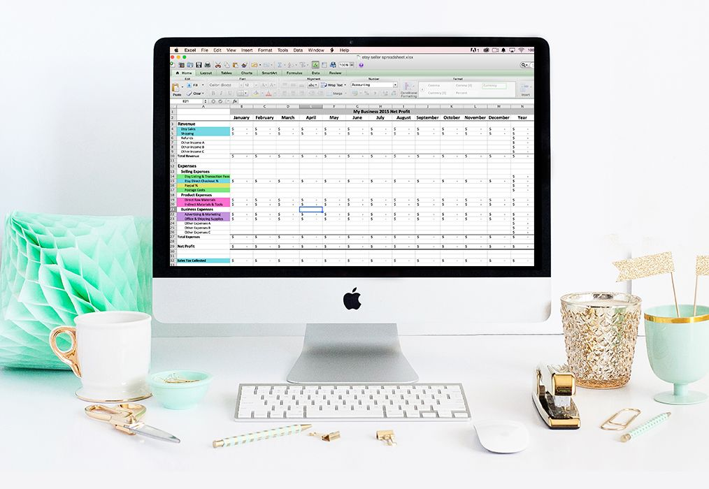 The Etsy Seller Spreadsheet is a bookkeeping tool for Etsy shop - Financial Spreadsheet For Small Business