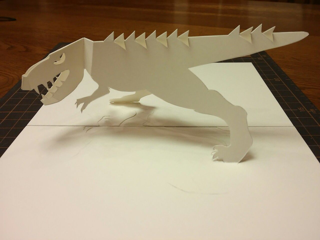 Origamic Architecture Dinosaurs 12 180 Deg Open Type Pop Up Cards Paper Crafts Book Making