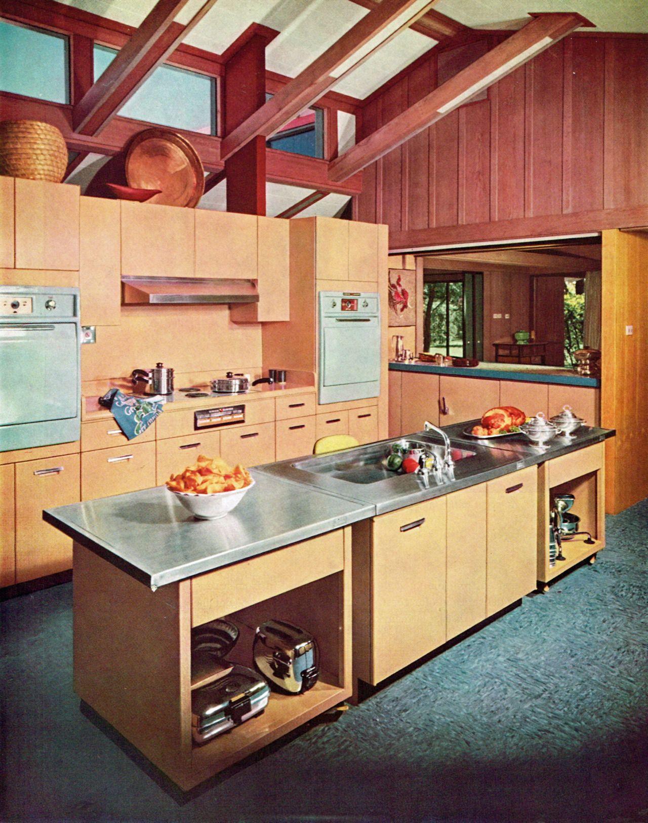 Best Kitchen In A Mid Century Modern Texas House 1958 Mid 400 x 300