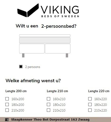 Tweepersoonsbed 160 210.Viking Boxspring Bed Maat Tweepersoonsbed 160 180 200 210 Breed X