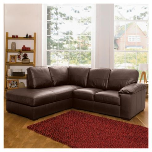 Ashmore Leather Corner Sofa Brown Left Hand Facing From Our Sofas Range