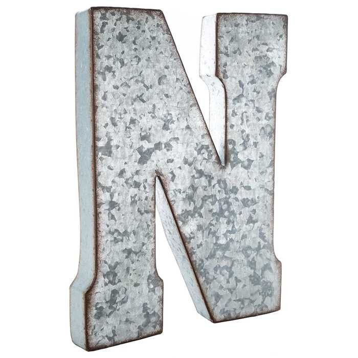 N Large Galvanized Metal Letter | Wall Decor Letters | Pinterest | Metals, Wall  Decor And Walls