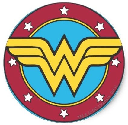 Now You Can Have A Wonder Woman Logo Sticker That You Can Use To