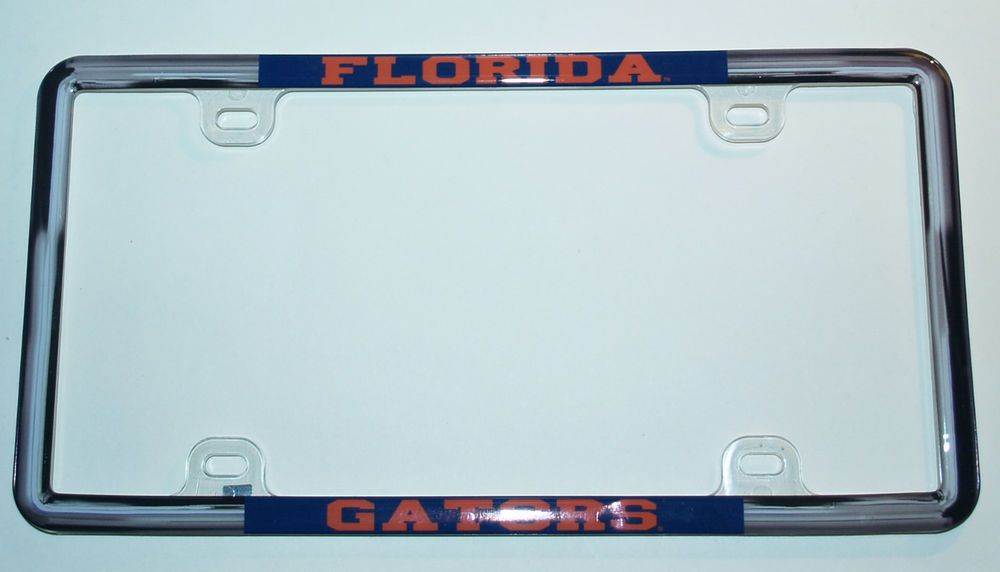 Florida Gator NCAA Auto Tag Plastic License Plate Frame One Size New ...