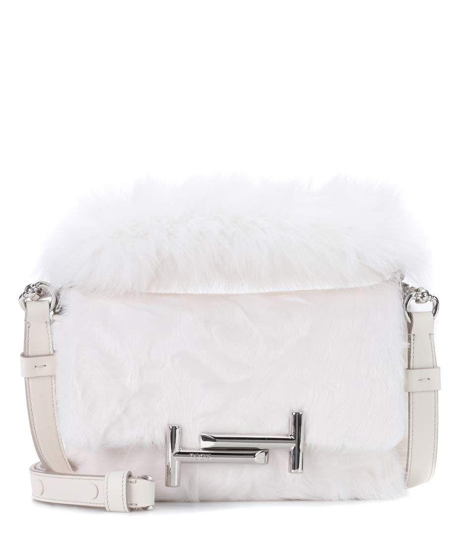 8eb18050350 TOD S Double T Mini fur shoulder bag.  tods  bags  shoulder bags ...