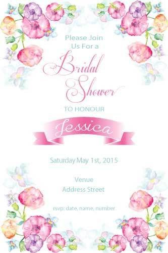 Bridal Shower Invitations Soft Fl