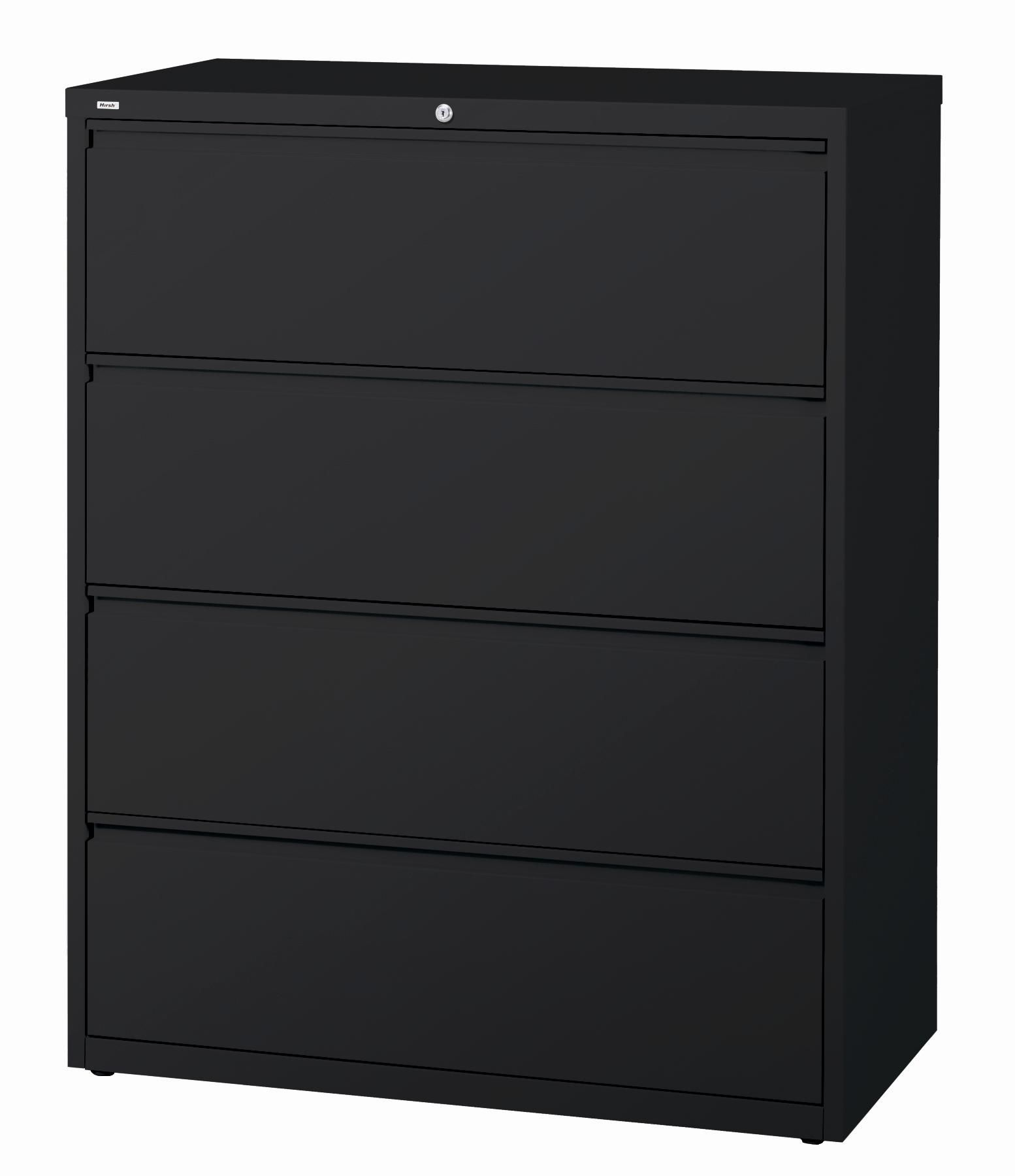 4 Drawer Lateral File Cabinet Black