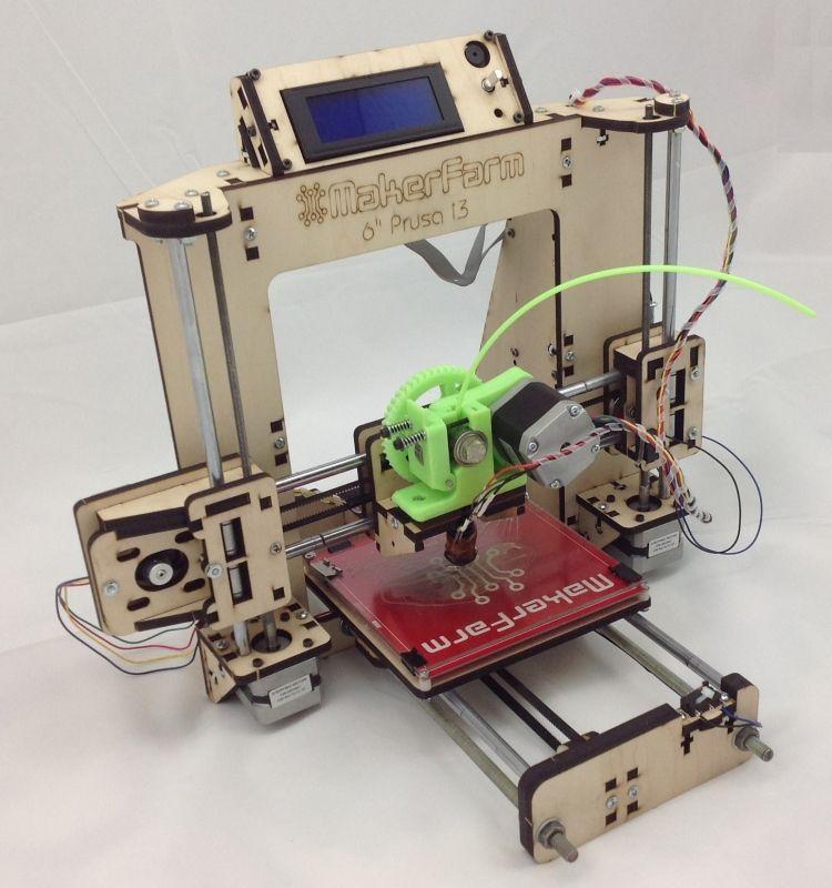 Makerfarm Prusa i3 3D Printer Kit 6 inch Massdrop