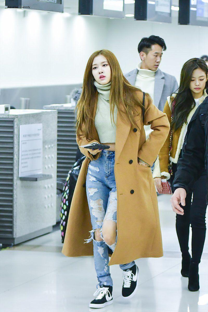 Rose Blackpink Airport Fashion  Fashionnn-5193