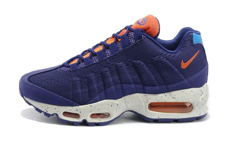 Best Drop Shipping Nike Air Max 95 EM Womens running shoes White blue[554971-164]