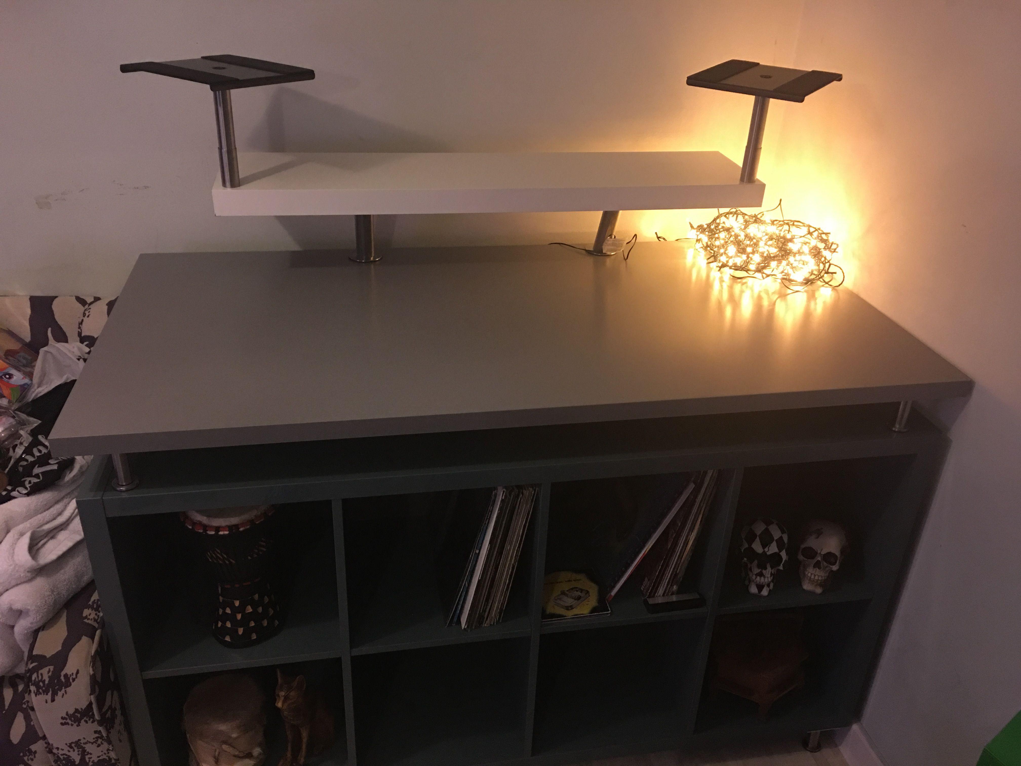 Ikea Kallax Dj Table Dj Setup Pinterest Avec Dj Tisch Selber Bauen
