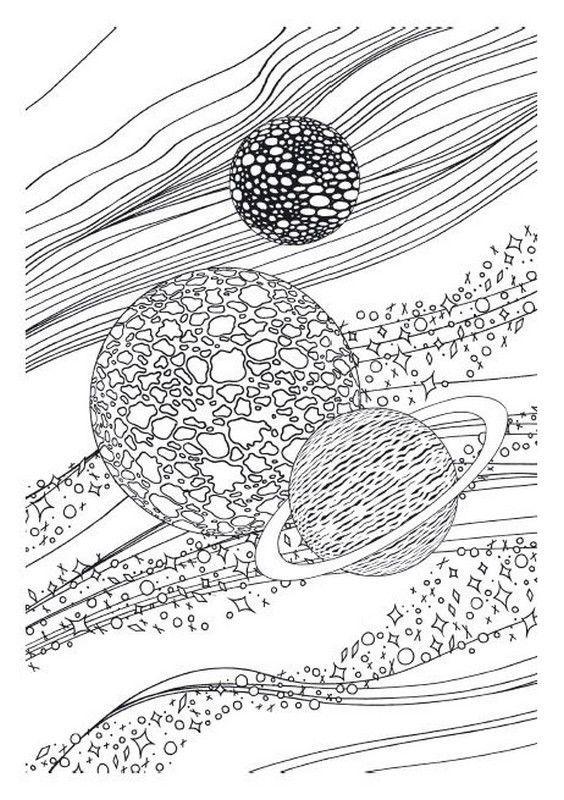 Desenho Para Colorir Estrelas Sol Lua Zwgrafikh