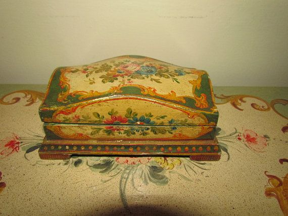 Antique Vintage Florentine Painted Tole Flower by KiTTyKaDooDLe